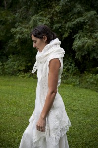 Bridal tunic & MOEMA shawl