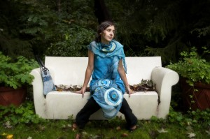 Nuno scarf and tunic